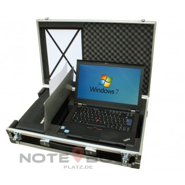 Kofferlösung ! Laptop mit Drucker im Koffer ! Lenovo T430 mit 8GB Ram 256 GB SSD und HP 100