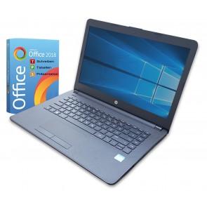 HP 14 Zoll Notebook Intel - 2 x 2,6Ghz (7.Gen)- 4GB - 128Gb SSD - Windows 10 Pro- Wlan Office 2018